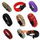 Unisex Self-rescue Parachute Cord Paracord Bracelet Outdoor Camping Emergency Escape Rope