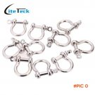 10 PCS/lot O Shape Zinc alloy Anchor Shackle Outdoor Survival Rope Paracord Bracelet Buckl