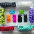 Men Self-rescue Paracord Parachute Survival Cord Bracelets Paracode Bracelet DIY Set BC150