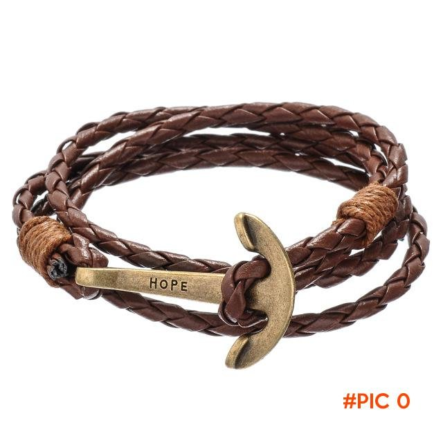 2016 Tom Hope Leather Bracelets For Men Women Fashion Anchor Charms Bracelets Jewelry Surv