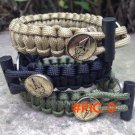 2015 New edc carry tool with a multi-purpose outdoor survival flint magnesium wreck umbrel