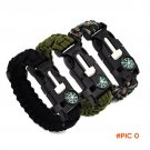 Outdoor survival bracelet flint fire camping lifesaving compass Bracelet Bracelet wild fir