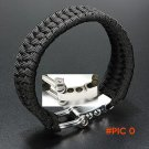 Unique design Rope Outdoor Camping Survival Bracelet Weave 7-Stand Alloy Buckle 6FT4 BC236