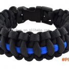 Women Size 21.5CM Long Outdoor Travel Camping Thin Blue Line Black Braided Cobra Weave Pla