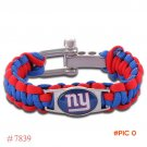 NFL New York Giants Paracord Bracelet Adjustable Survival Bracelet Football Bracelet , Dro