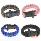 Military Survival Bracelet Buckle with Whistle Outdoor Camping Kit Tool BC270