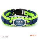 (10 Pieces/Lot) Seattle Football Team Seahawks Paracord Survival Friendship Outdoor Campin
