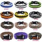 New Trendy Unisex Military Emergency Survival Bracelets 3 Colors Paracord Rope Outdoor Sur