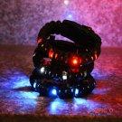 New Men's Paracord Survival Bracelet With LED Camping Light Up Scraper Whistle Flint F