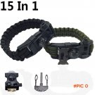 New  Survival Bracelet Flint Fire Starter Gear Escape Paracord Whistle Cord Buckle Camping