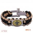 NFL New Orleans Saints Paracord Bracelet Adjustable Survival Bracelet Football Bracelet ,