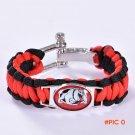 Georgia Bulldogs Custom Paracord Bracelet NCAA College Football Charm Bracelet Survival Br