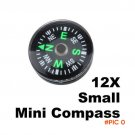 12 Pcs/Set 20mm Pocket Compasses Mini Compass for Paracord Bracelet Outdoor Camping Hiking