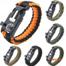 5 in 1 Outdoor Fishing Camping Paracord Survival Bracelet Emergency Rope Flint Fire Starte