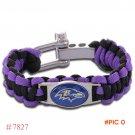 NFL Baltimore Ravens Paracord Bracelet Adjustable Survival Bracelet Football Bracelet , Dr