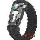 5 in 1 Outdoor Survival Paracord Bracelet  -  4 color optional BC343