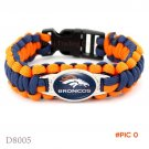 (10 Pieces/Lot) Denver Football Team Broncos Paracord Survival Friendship Outdoor Camping