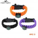 Outdoor Paracord Bracelet Travel Emergency Bracelet Quick Release Survival Bracelet with F