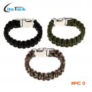 Paracord 7 Strand Parachute Cord Travel Outdoor Emergency Quick Release Survival Bracelet