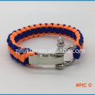 Hot Sale Custom Handmade Weave Survival Paracord Bracelet Adjustable Stainless Steel O Sha