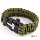 Men's Survival Bracelets Rescue Cord Parachute Cord Wristbands Emergency Rope Buckle K