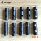 10pcs/lot Free Shipping Survival Magnesium Flintstones Drilled Ferrocerium Rod Flint Fire