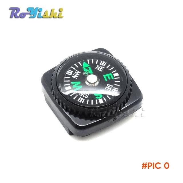 100pcs/pack Mini Compass for Paracord Bracelet Outdoor Camping Hiking Travel Emergency Sur