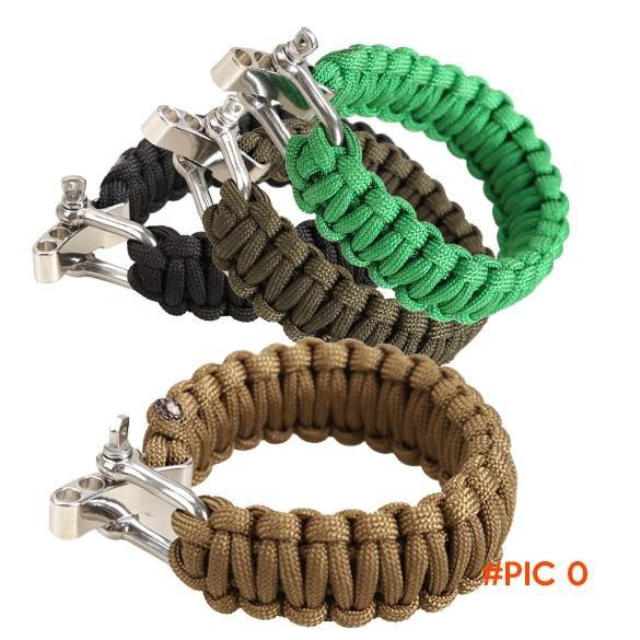 Adjustable Parachute Cord Tough 7-Strand Rope Bracelet Outdoor Survive Tool B2C Shop BC1246