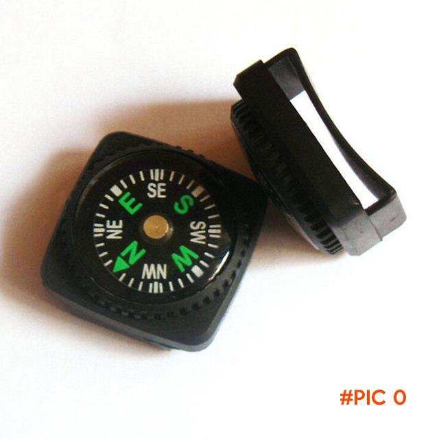2pcs/lot Mini Compass for Paracord Bracelet Outdoor Camping Hiking Travel Emergency Surviv