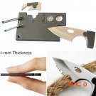 2015 Fashion New 10 in 1 Multi Purpose Pocket Credit Card Survival Knife Outdoor Hunting C
