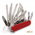 Swiss 91mm Folding Knife Stainless Steel Multi Tool Army Knives Pocket Hunting Outdoor Cam