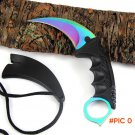 CSGO Rainbow color Counter Strike Karambit knife handmade hunting knives Fighting Claw Kni