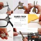 6 In 1 Protable Fold Knife Pocket Key Chain Knife Bottle Opener Mini Multi Camping Key Rin