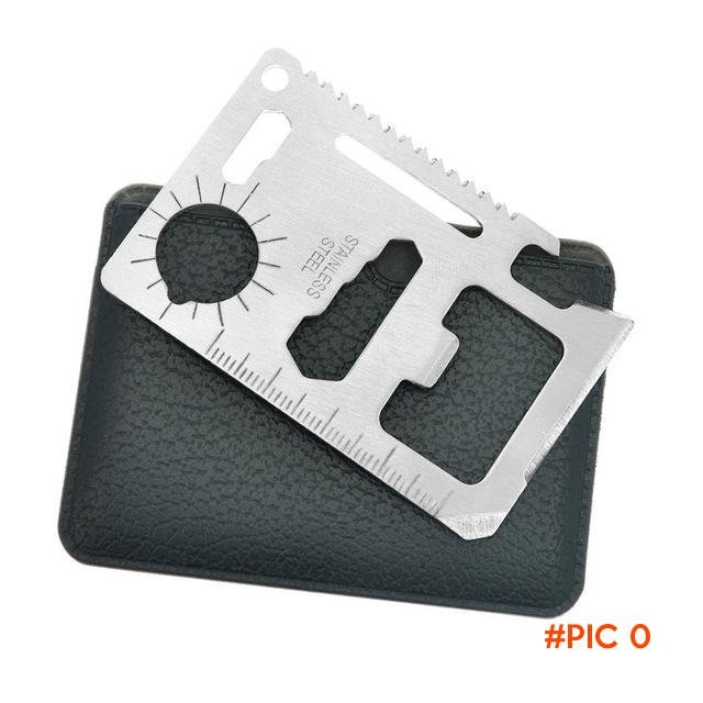 NEW 11 in 1 Credit Card Size Wallet Knife Stainless Steel Survival Multitool Utility Tool