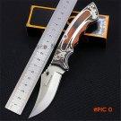 Browning laser folding knife outdoor self-defense with saber wilderness survival fruit kni