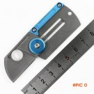 John C188 Dog Tag folding knife 9Cr18MoV blade Aluminum + steel handle outdoor Survival ca