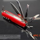 13in1 Red Swiss Champ Switzerland Stainless Steel Knife Multifunctional Folding Army Knive