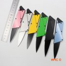 3rd Credit card folding knife stainless steel blade Steel Handle Wallet knives survival ca