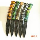 Cool Ghillie G131-A folding knife camping survival knife pocket Fruit knife ABS Ghost hand