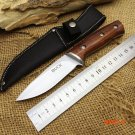 Buck Hunting Fixed Knife 440 Blade Steel+Wood Handle Camping Tactical Knife Utility Surviv