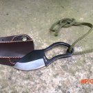 EDC gear karambit claw portable stainless steel mini knife with leather cover utility pock