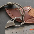 Stainless Steel Mini portable Pocket knife with leather cover hike Ferramentas tool Outdoo