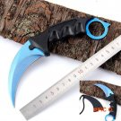 Real CS GO Counter Strike Karambit Knife blue Combat Knife tactical survival pocket Neck k