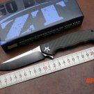 Folding tactical knife ZT Flipper 0452CF pocket Knife D2 Steel Blade KVT Ball Bearing outd