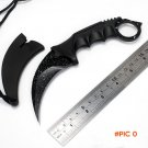 Starry sky csgo claw Survival Hunting Knives Pocket Outdoor Camping Karambit Knife Neck Kn