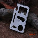 Multi Tools 11 in 1 Multifunction Pocket Military Knife Silver Outdoor Hunting Survival Ca