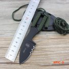 multifunction small straight knife black camping outdoor Rescue survival Tactical Pocket K