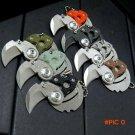 Nice Coin folding knife 9Cr18MoV blade G10 or carbon fiber + steel handle outdoor Survival