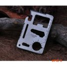 On Sale Multi Outdoor Camping 11 Functions in 1 Survival Card Knife Multifunction Card Too