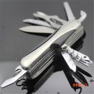 12 Function Stainless Steel Pocket Knife Outdoor Survival Folding Knife  BC625